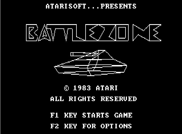 BATTLEZONE . ORIGINAL / PLAY ONLINE