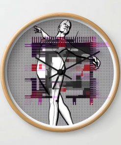 Limited Edition Wall Clock // PAPERGIRL by New Media iPhone artist Mark Sedgwick