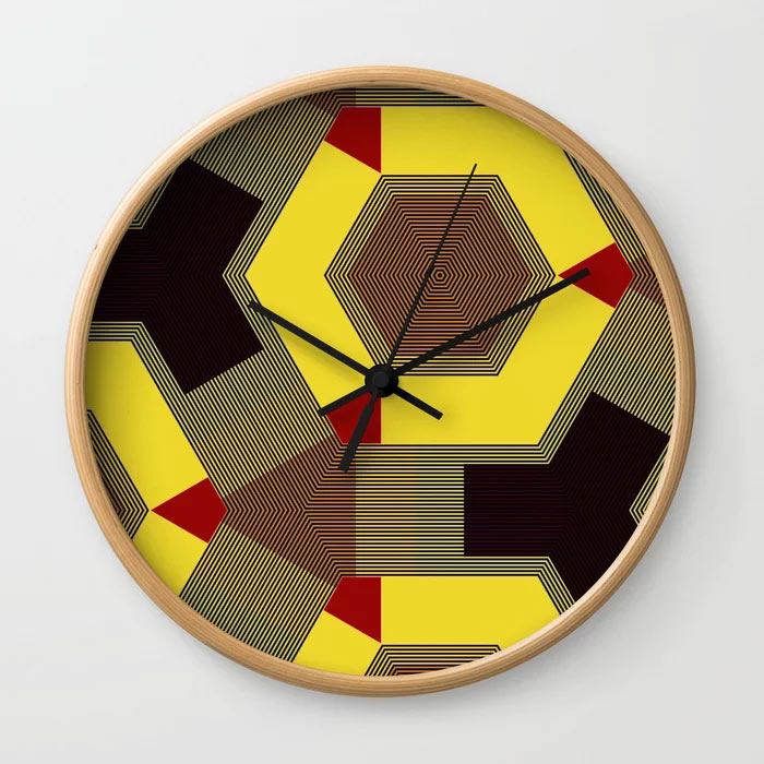 Limited Edition Wall Clock // VIMANA by New Media iPhone artist Mark Sedgwick