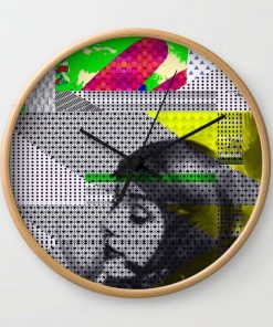 Wall Clock // ASTRO GIRL by New media iPhone artist Mark Sedgwick