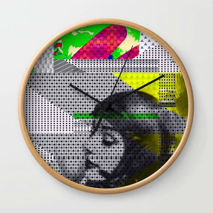 Wall Clock // ASTRO GIRL by New media iPhone artist Mark Sedgwick