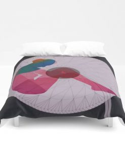 Limited Edition Duvet Cover // SHE SAT IN A CORNER by New Media iPhone digital artist Mark Sedgwick