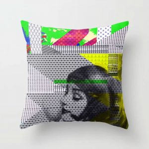 Throw Pillow featuring Astro Girl Limited Edition Art Prints by New Media iPhone Artist Mark Sedgwick