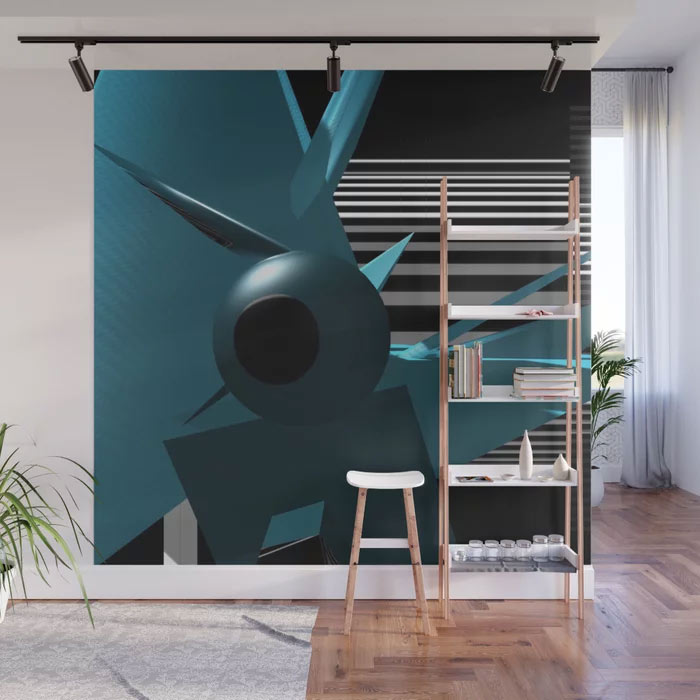 Limited Edition Wall Mural by New Media iPhone Artist Mark Sedgwick