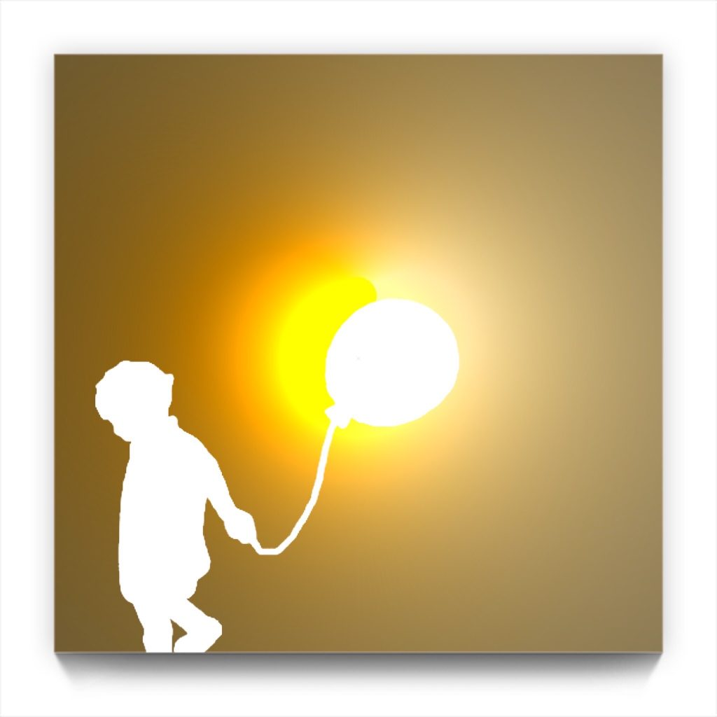 BOY WITH A BALLOON 19.5 by newmedia iphone Artist Mark Sedgwick