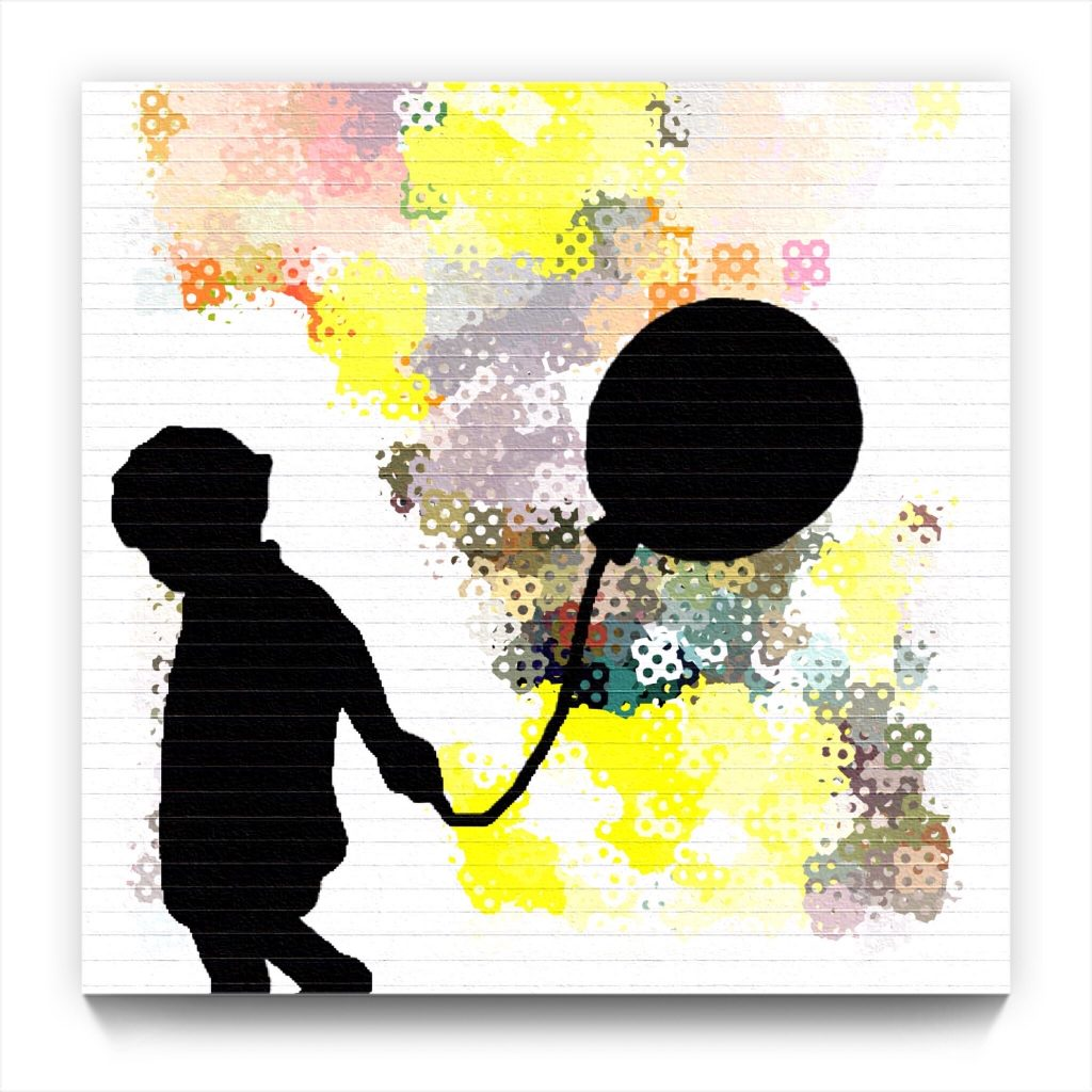 Boy with a Balloon by newmedia iPad Artist Mark Sedgwick