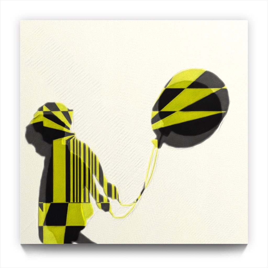 BOY with a BALLOON by new media iPhone Digital Artist Mark Sedgwick
