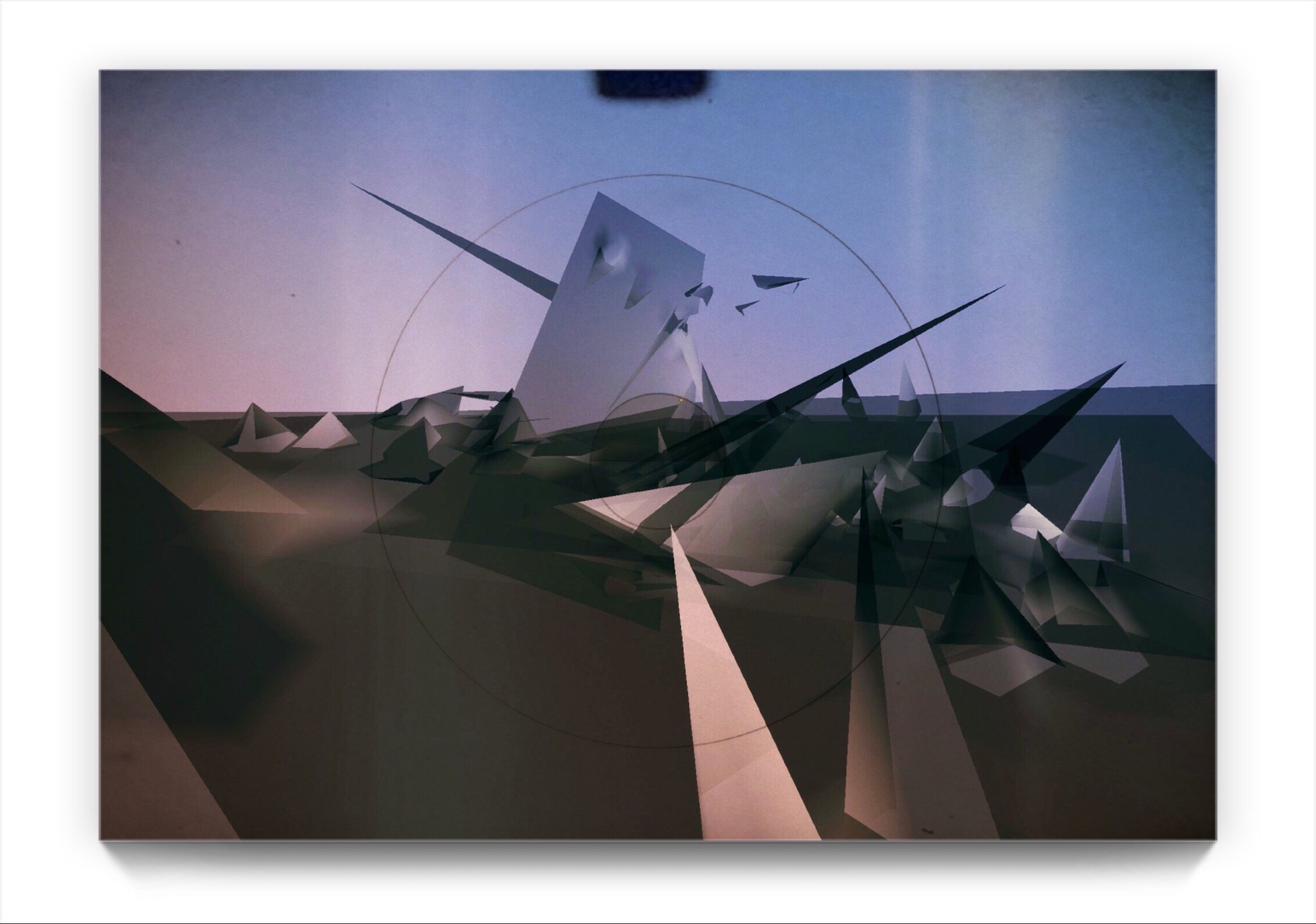 the unconscious conscious . PAPERMAN . A digital landscape by newmedia iPhone Artist Mark Sedgwick