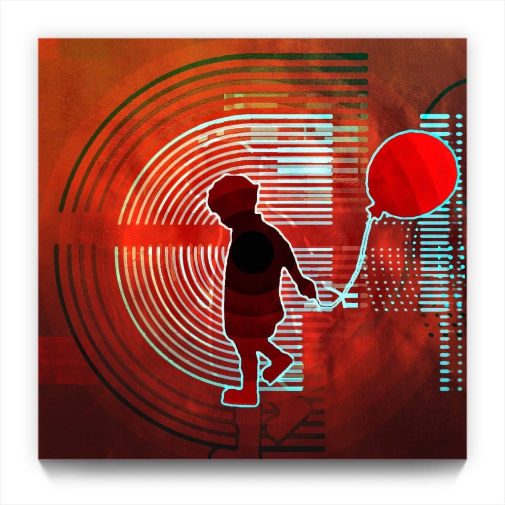BOY with a BALLOON 19 . 2 by new media iPhone artist Mark Sedgwick