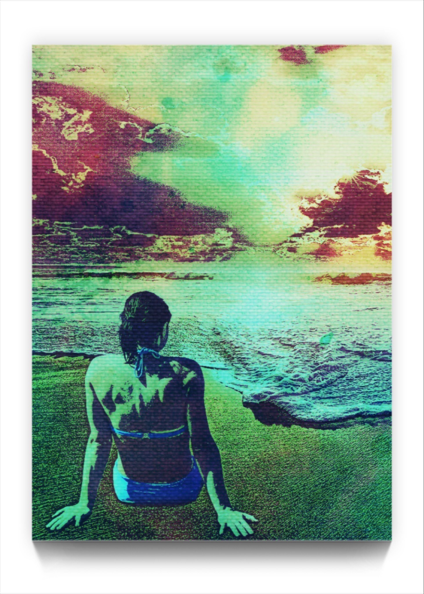 Beach Life . Netart by newmedia iphone Artist Mark Sedgwick