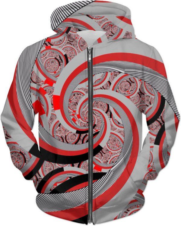 FSP 19 . ALL OVER Printed Jacket Hoodie