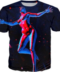 There Goes an Angel . ALL OVER Printed T shirt