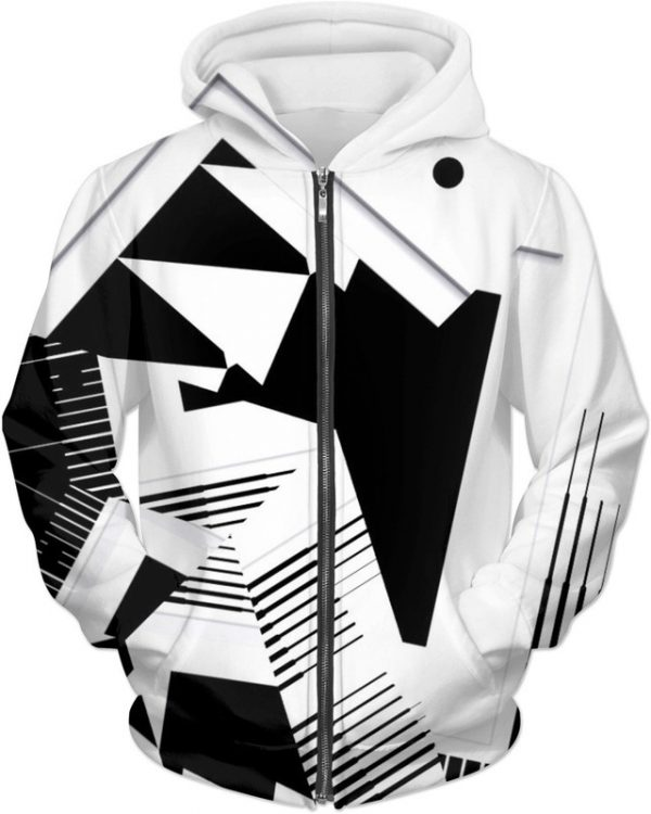 The THINKER . ALL OVER Printed Jacket Hoodie