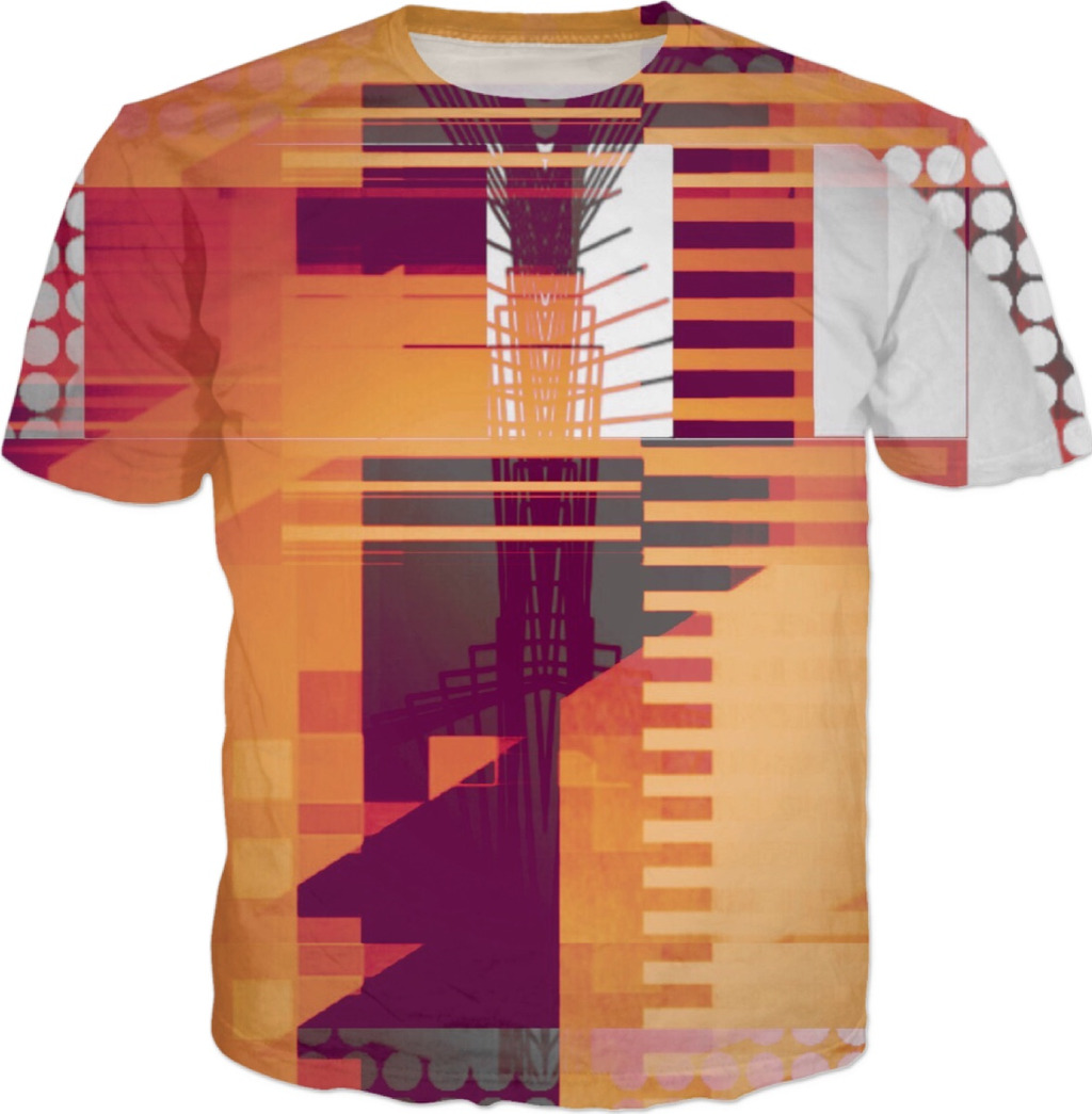 STRUCTURE 8 . ALL OVER T SHIRT by Virtual Artist Mark Sedgwick