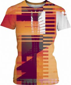 STRUCTURE 8 . ALL OVER T SHIRT by New Media Virtual Artist Mark Sedgwick