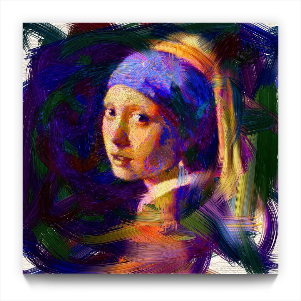 Mona Lisa of the North 19 . 1 by new media iphone artist Mark Sedgwick