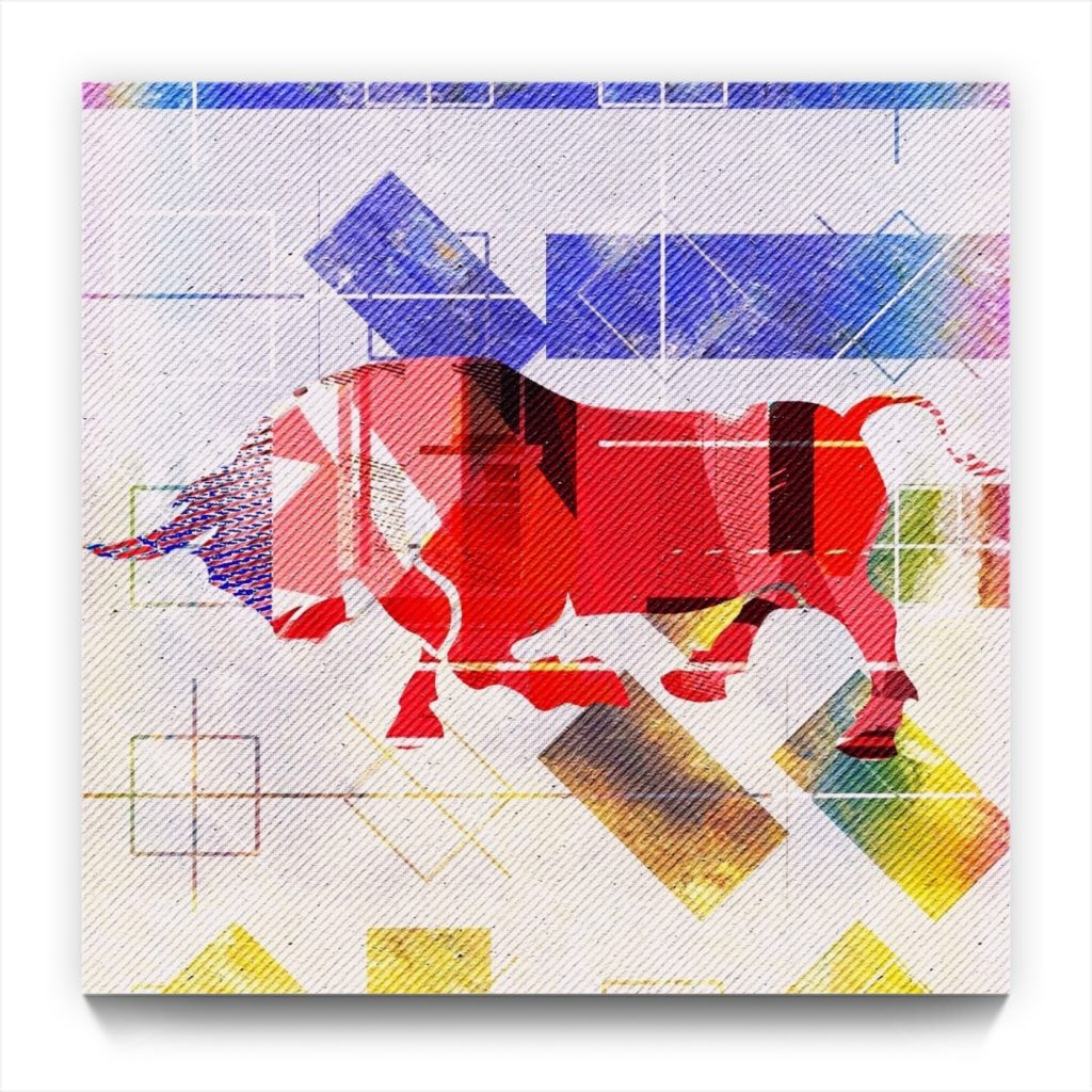 Picasso and the BULL 19 . 4 . new media iphone art