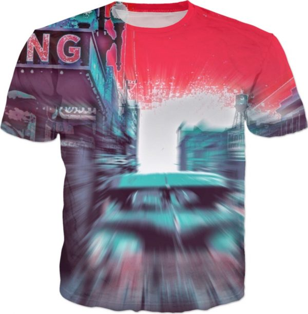 Look Out IRVING ! ALL OVER Printed T shirt