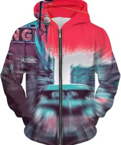 Look Out IRVING ! ALL OVER Printed Jacket Hoodie