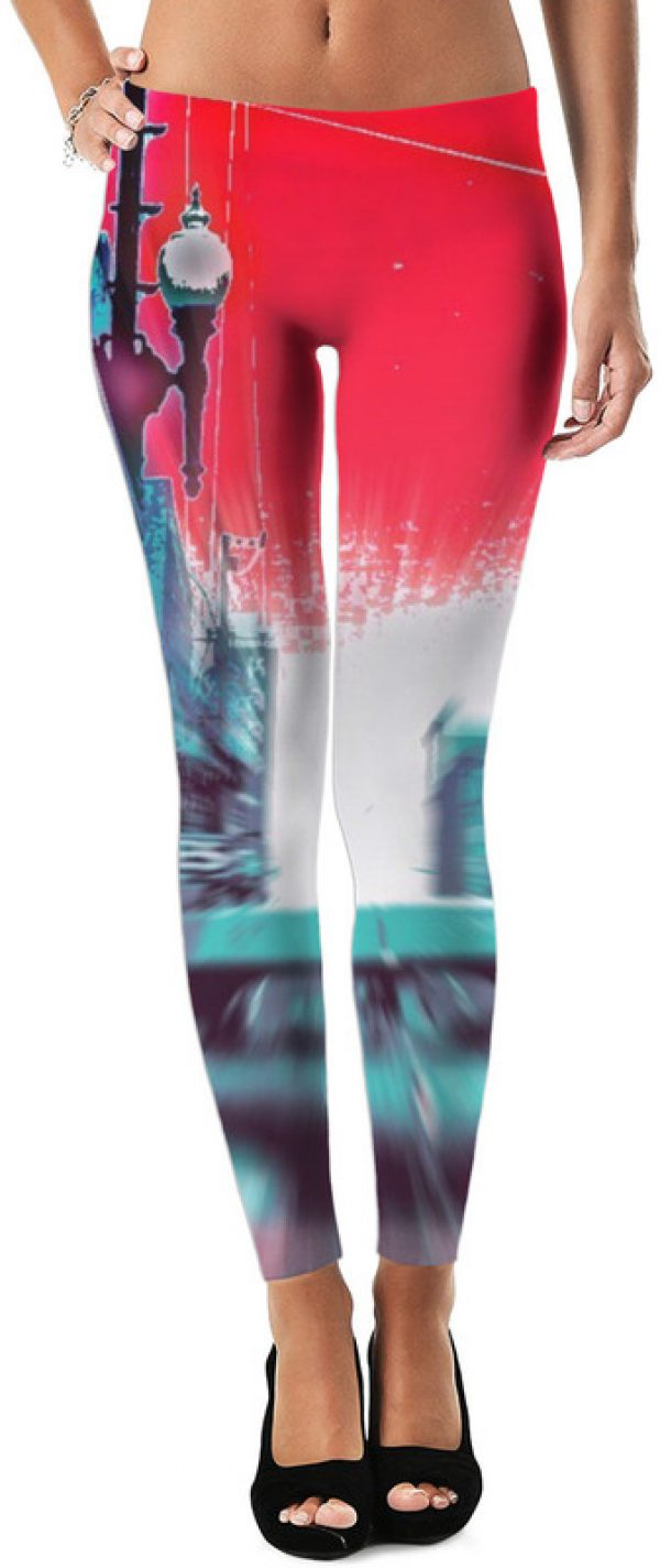 Look Out IRVING ! ALL OVER Printed Leggings