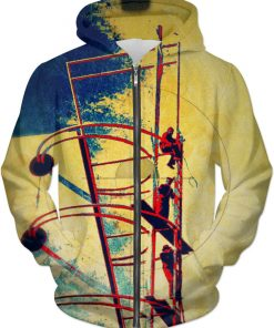 Information Nation ALL OVER Printed Jacket Hoodie