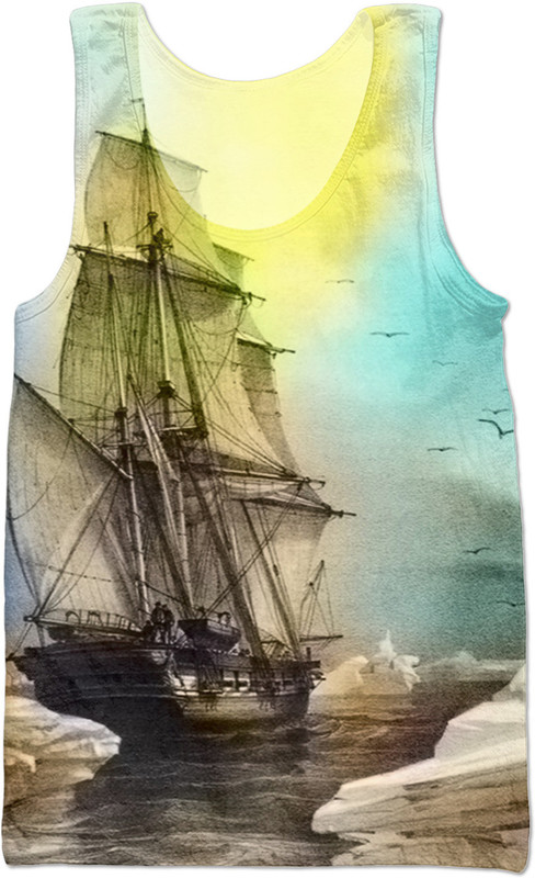 Sailing on Memory Bliss . ALL OVER Printed Vest Top