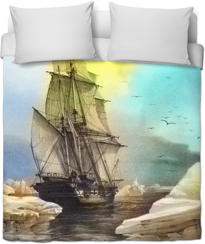 Sailing on Memory Bliss . ALL OVER Printed QUILT COVER