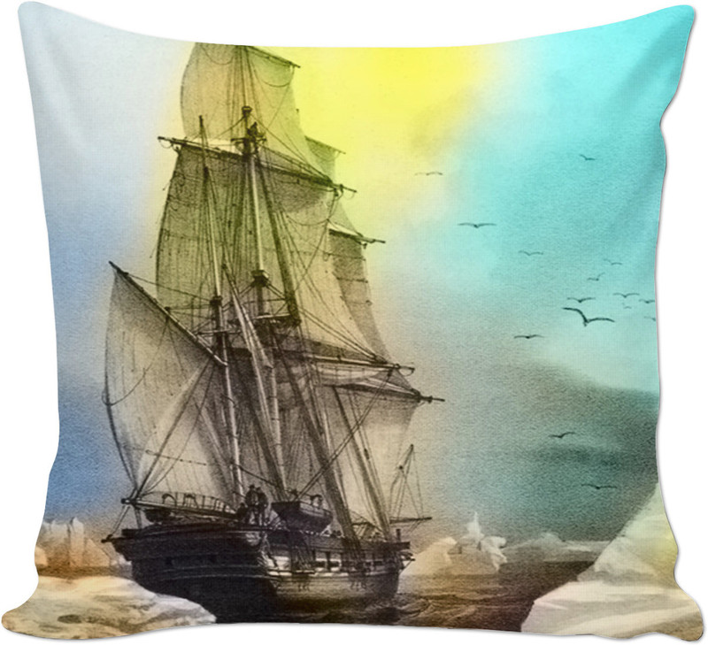 Sailing on Memory Bliss . ALL OVER Printed Cushion