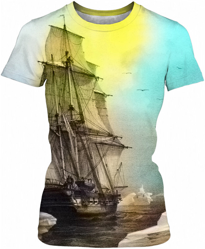 Sailing on Memory Bliss . ALL OVER Printed T Shirt