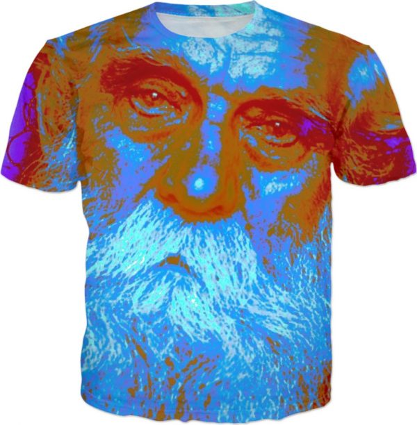 Blue CHRISTMAS . ALL OVER TSHIRT by New Media Virtual Artist Mark Sedgwick