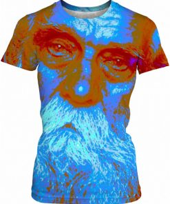 Blue CHRISTMAS SKINNY T by New Media Virtual Artist Mark Sedgwick
