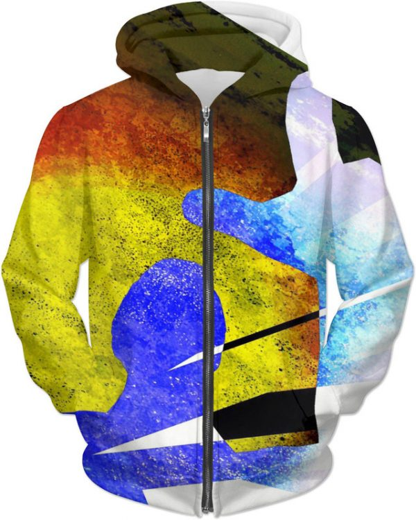There IT IS ! . ALL OVER Printed Jacket Hoodie
