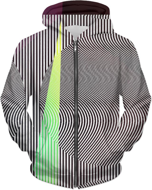 OWN WORST ENEMY . ALL OVER Printed Jacket Hoodie