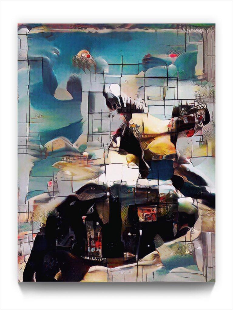 NEURALiSM // stop fighting the world ! original figurative ipad art