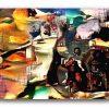 NEURALiSM : the HORSEMAN APPROACHES . original figurative stukist iPad abstration