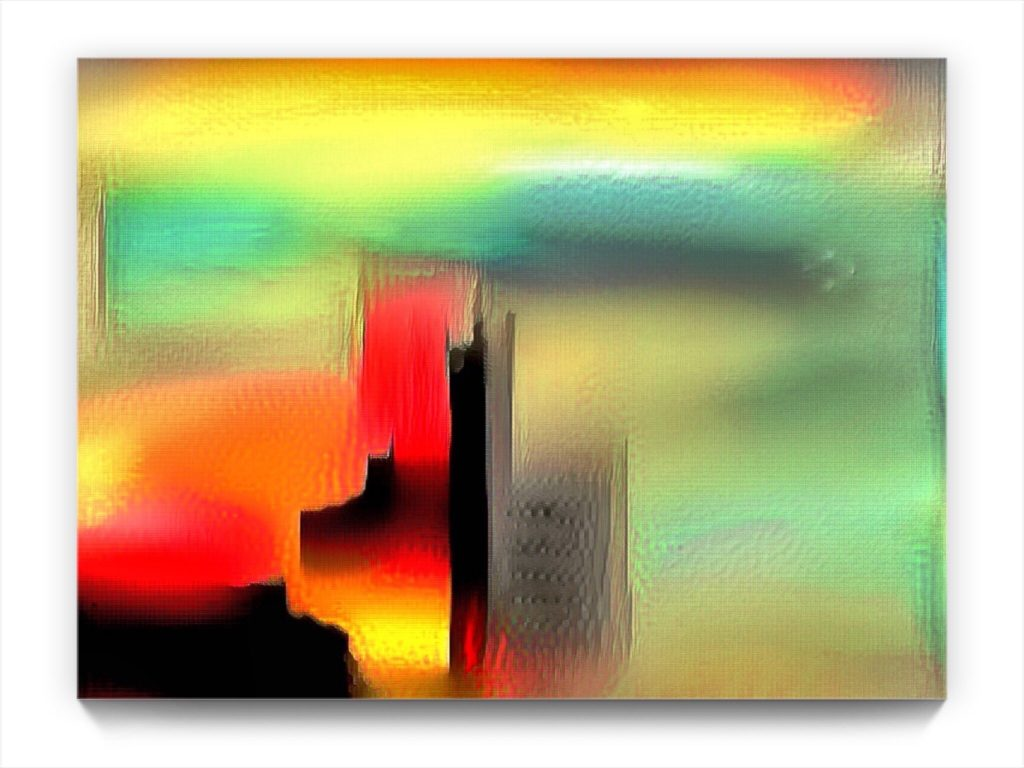 NEURALiSM . Cathedral Within . original digital ipad abstract landscape