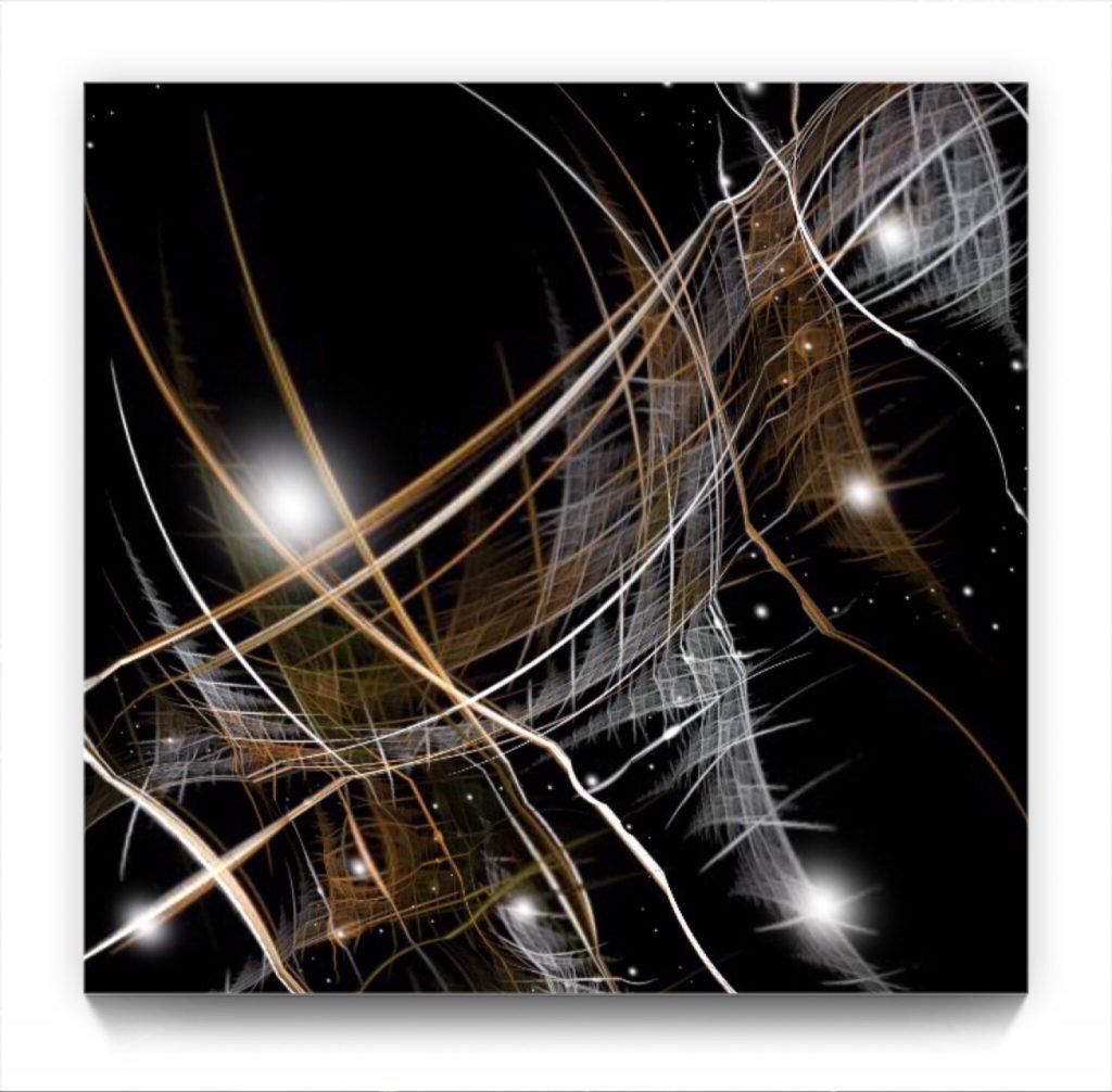 celestial : 4 . 2 . digital Fractal Manipulation mobile phone abstract