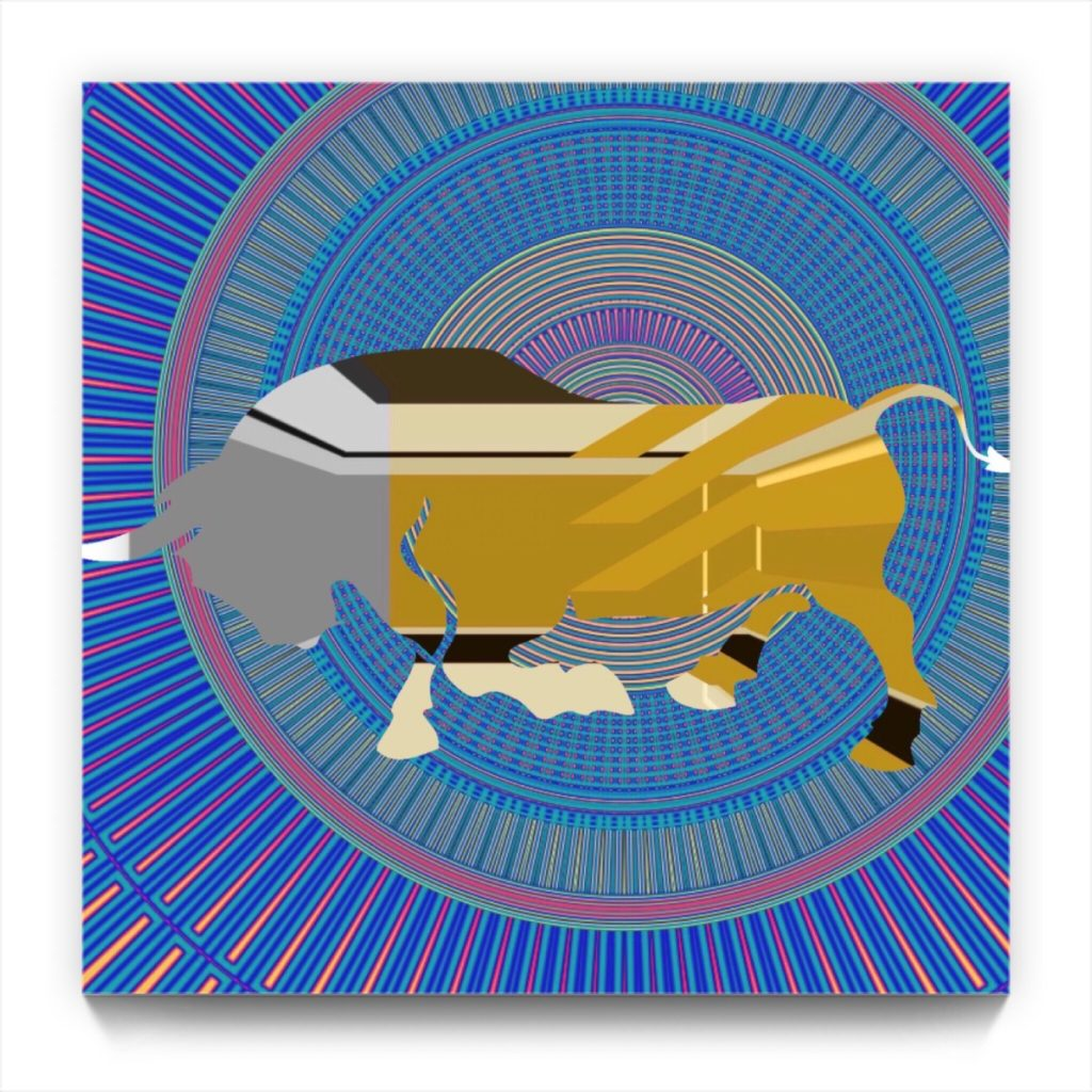 PICASSO and the BULL . 18.4 . digital figurative iphone abstraction