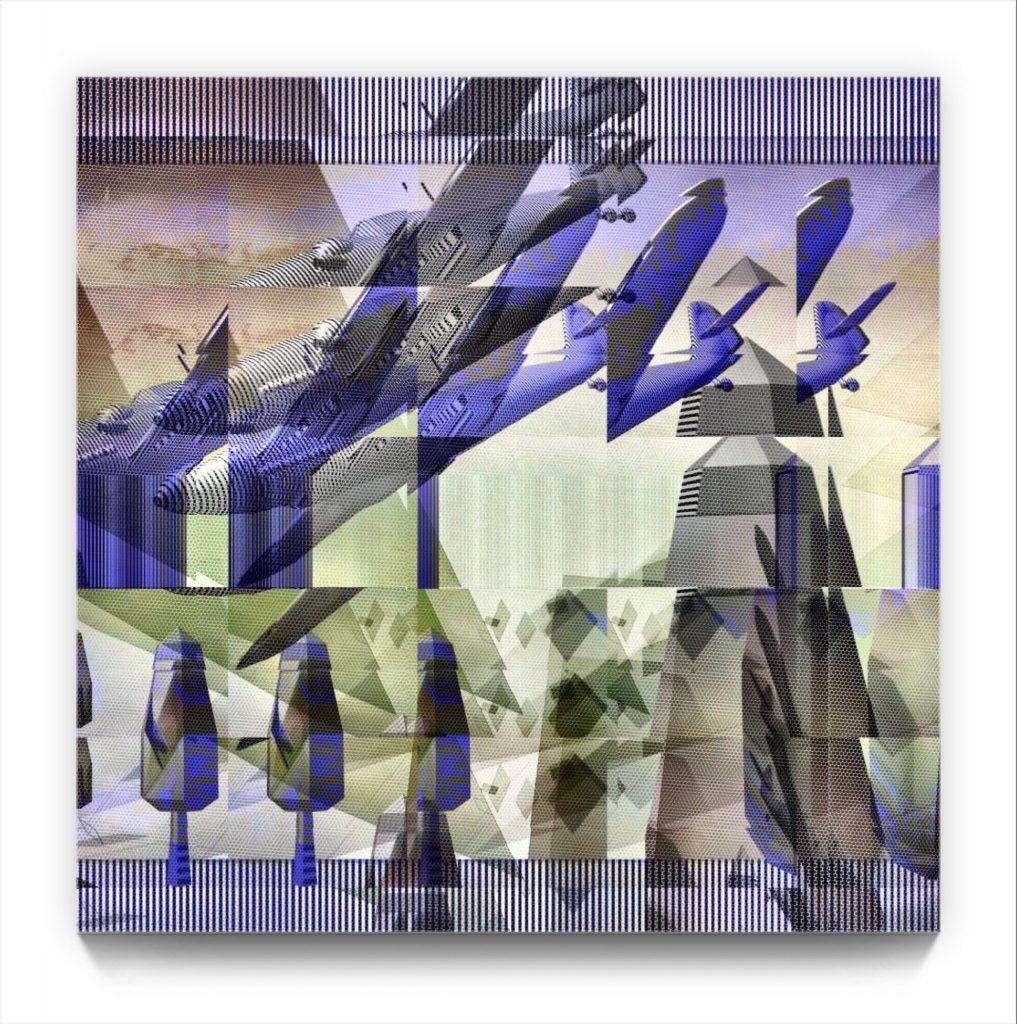 grandad's war . digital figurative ipad abstraction