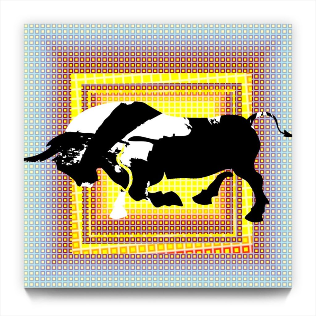 Picasso and the BULL 18.11 . digital figurative iphone netart