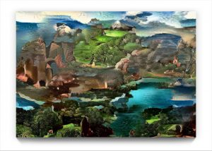 NEURALiSM : LANDSCAPE . digital ipad surrealist Landscape