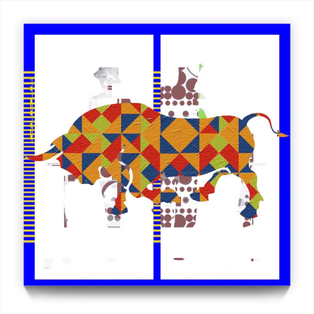 PICASSO and the BULL . 18 . 9 . digital figurative iphone netart