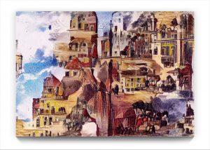 NEURALiSM . the BRIDGE . digital iPad surrealist Landscape