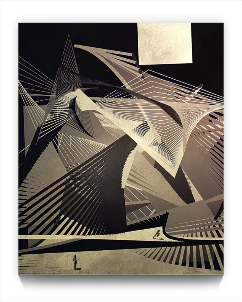 dreamstate : paperman . digital figurative iphone landscape