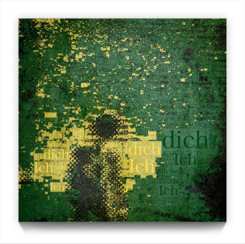 Ich liebe dich . figurative iphone abstract