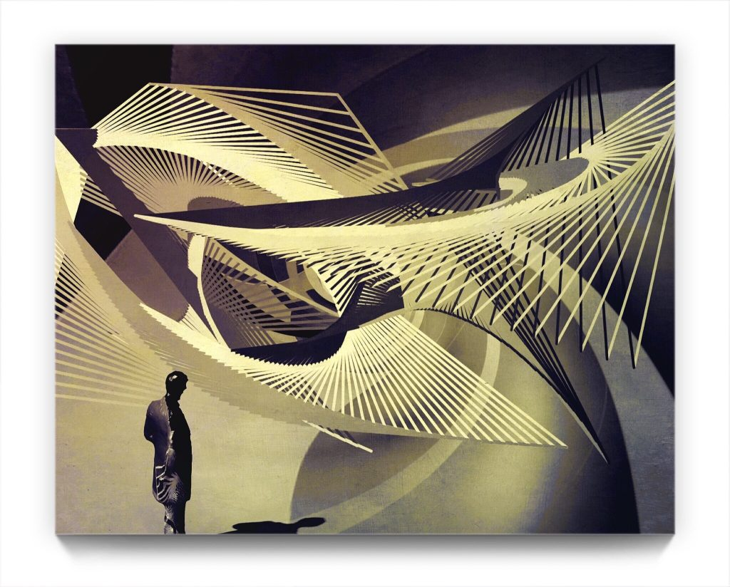 paperman : departure 19 . 1 by newmedia iPhone artist Mark Sedgwick